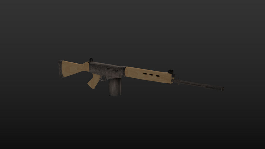 Fn-fal royalty-free 3d model - Preview no. 1