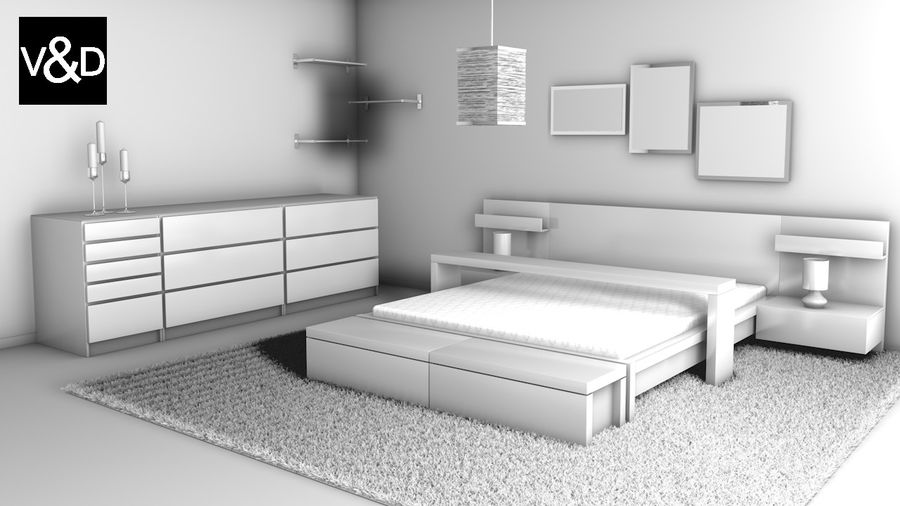 Malm Furniture Collection von IKEA royalty-free 3d model - Preview no. 2