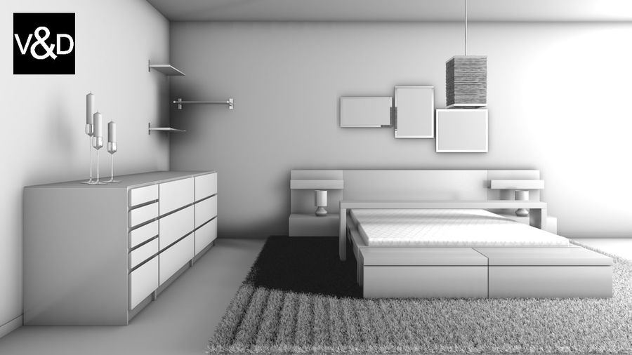 Malm Furniture Collection von IKEA royalty-free 3d model - Preview no. 4