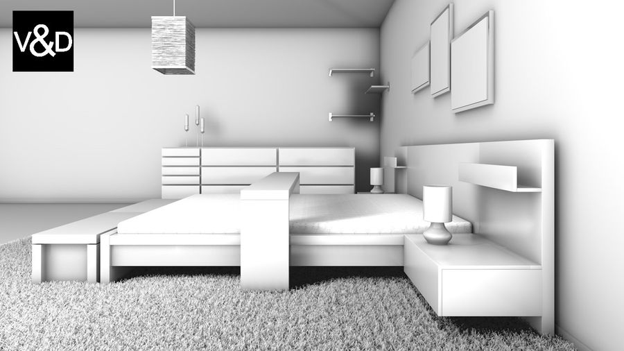 IKEA Malm Furniture Collection royalty-free 3d model - Preview no. 5