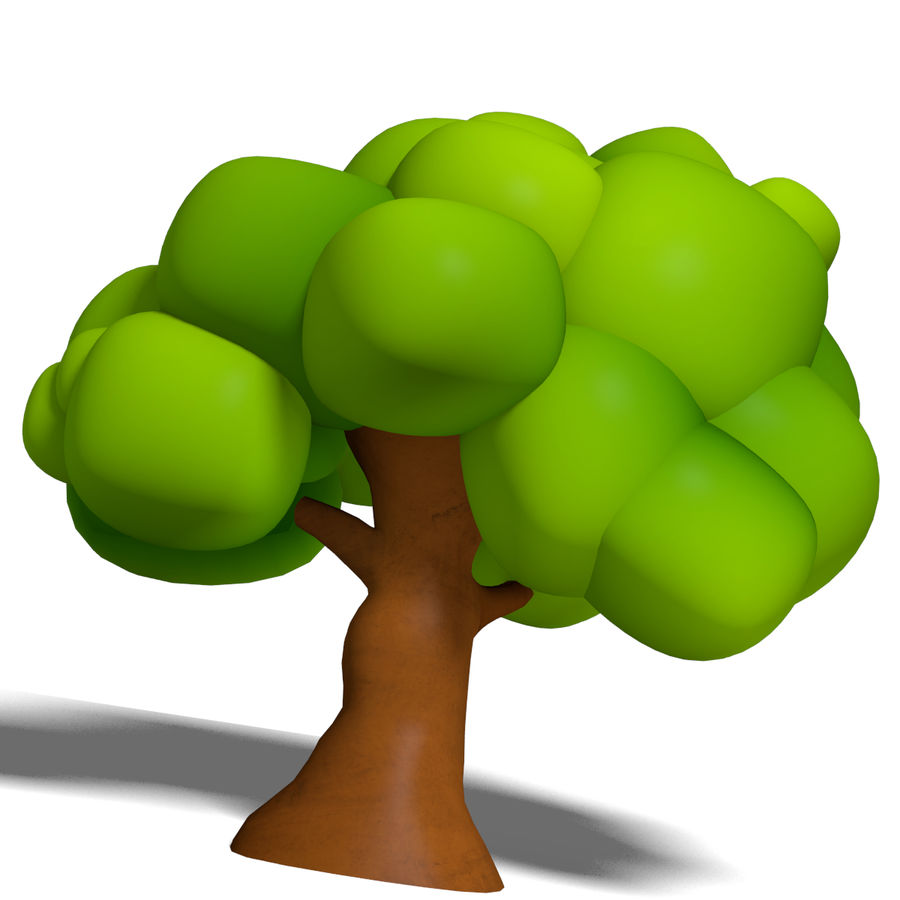 Cartoon Tree royalty-free 3d model - Preview no. 3