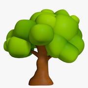 Baum der Karikatur 3d model