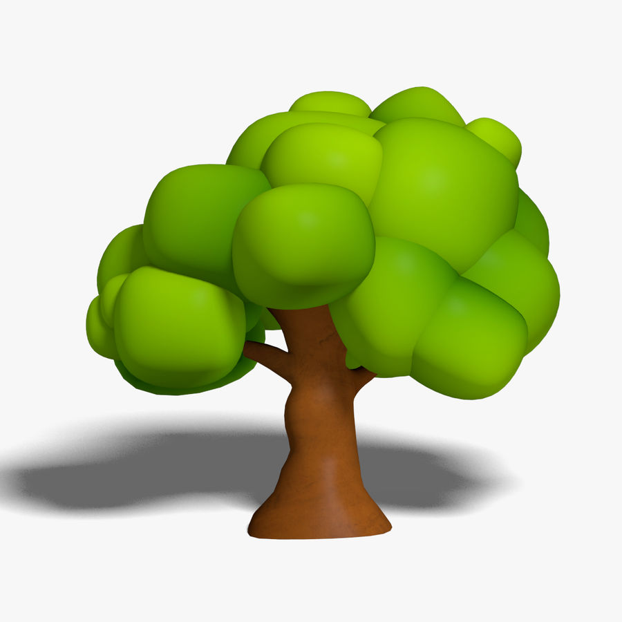Cartoon Tree royalty-free 3d model - Preview no. 2