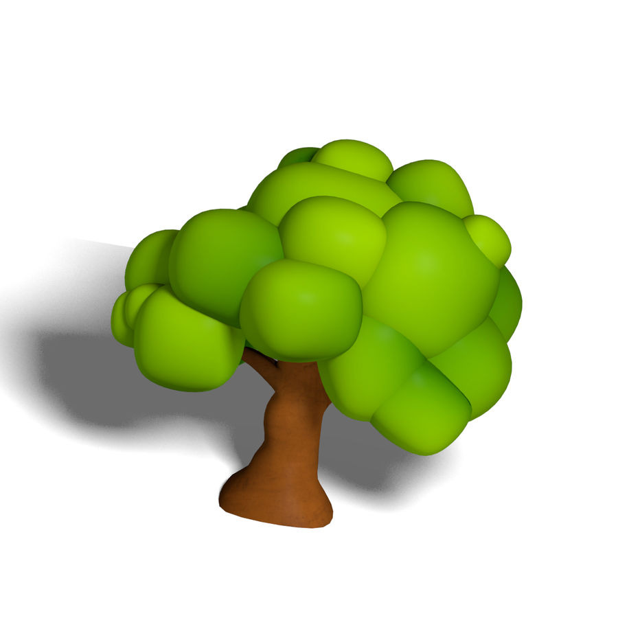 Cartoon Tree royalty-free 3d model - Preview no. 4