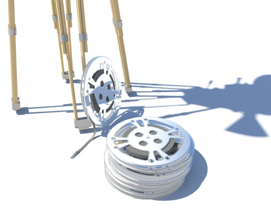 Film Movie Camera With Reel royalty-free 3d model - Preview no. 2