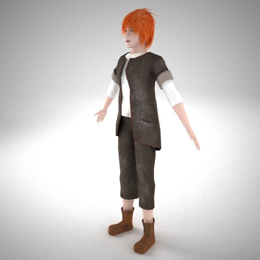 Męski charakter royalty-free 3d model - Preview no. 2