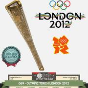 G69-OLYMPIC TORCH 2012 LONDON 3d model