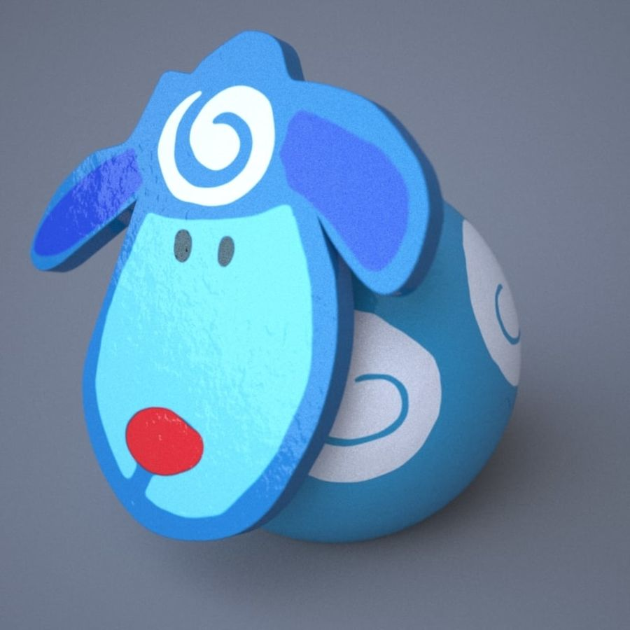 Funny animals royalty-free 3d model - Preview no. 4