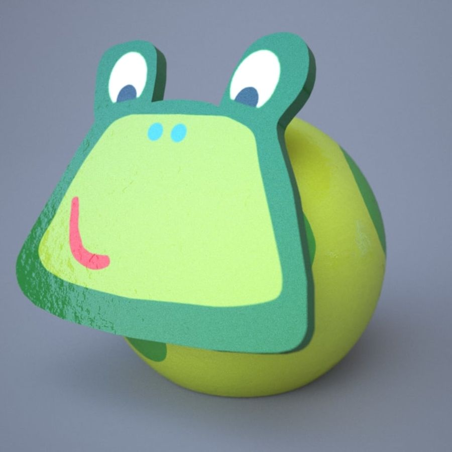 Funny animals royalty-free 3d model - Preview no. 2