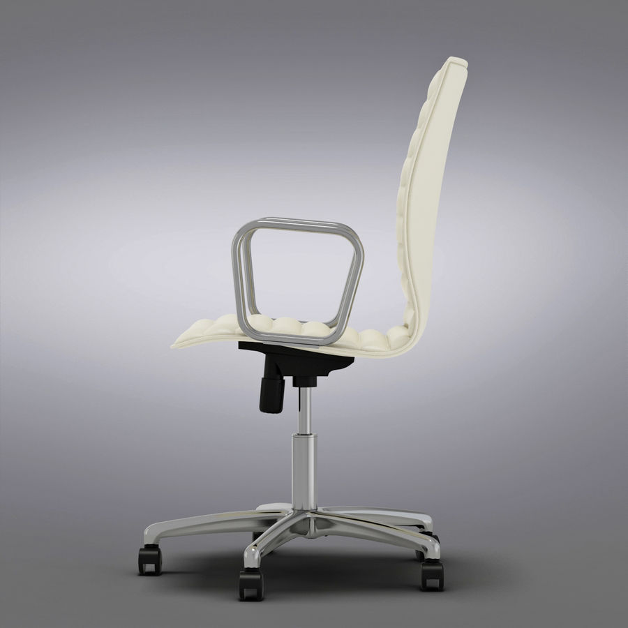 Crate And Barrel Ripple Ivory Leather Office Chair 3d Model 29 Max Obj Fbx C4d Free3d