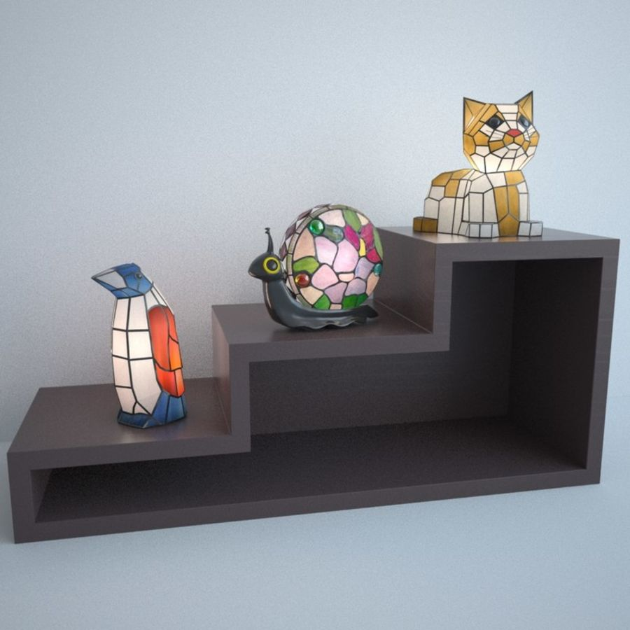 Animal Lamp royalty-free 3d model - Preview no. 2