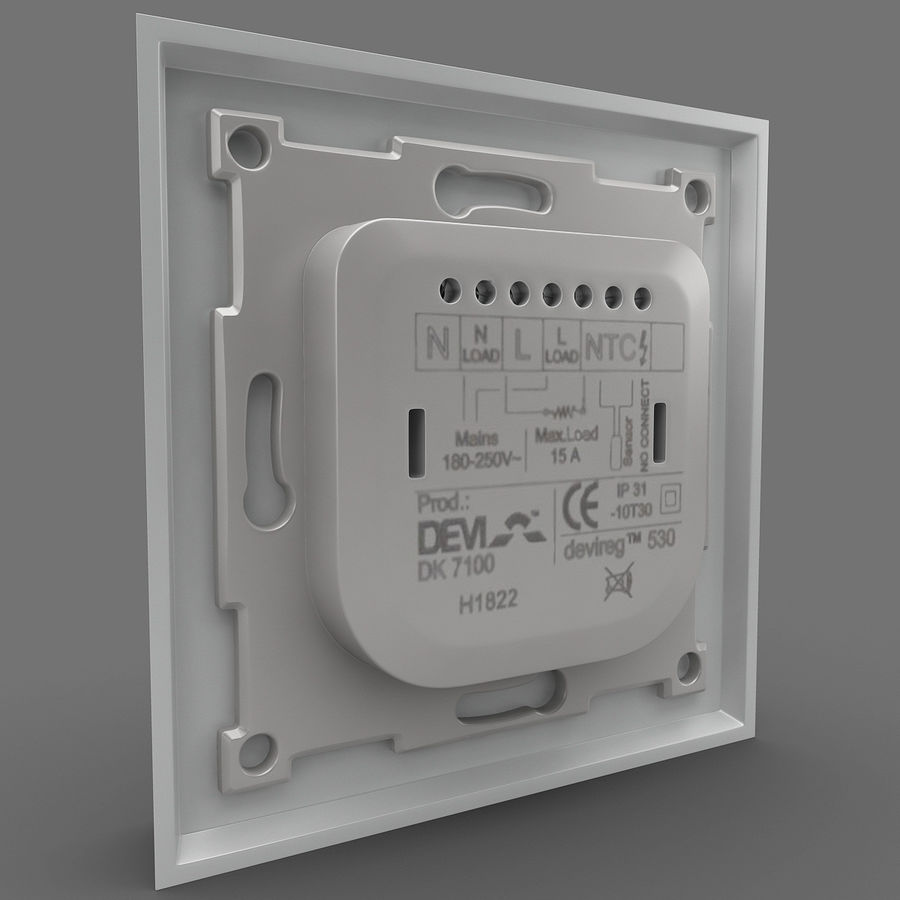 Thermostat Devireg royalty-free 3d model - Preview no. 6