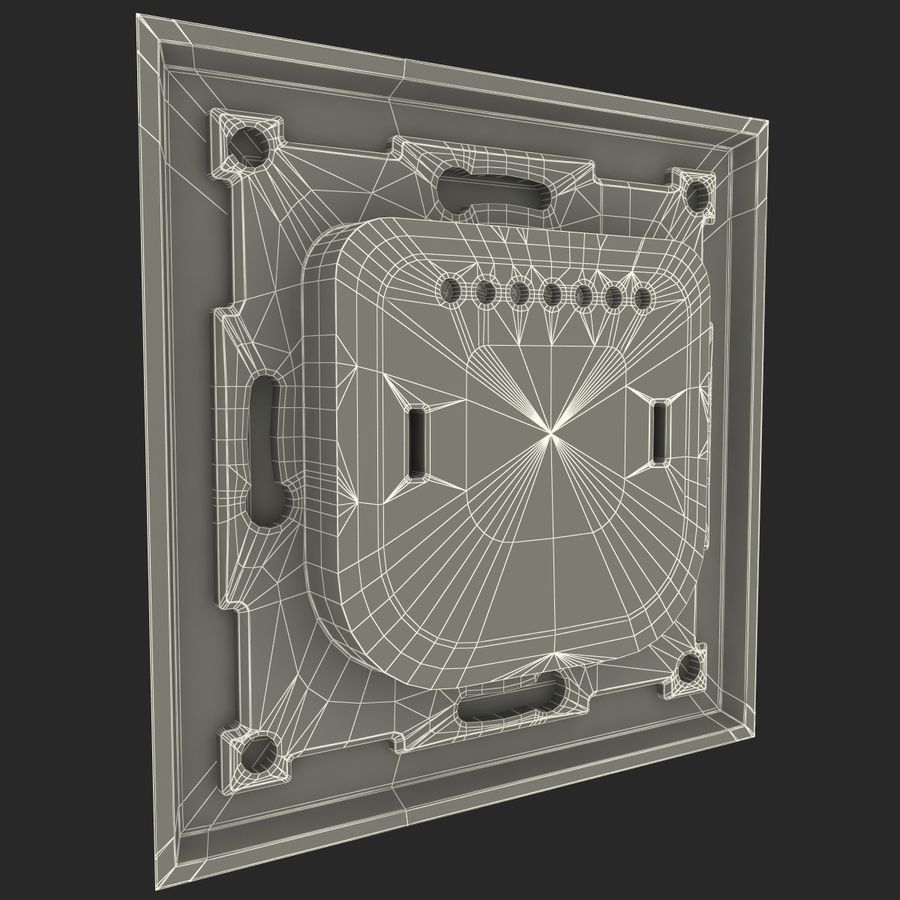 Thermostat Devireg royalty-free 3d model - Preview no. 10