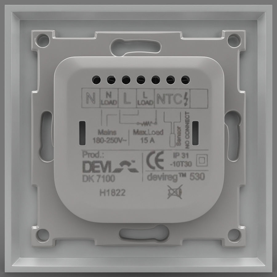 Thermostat Devireg royalty-free 3d model - Preview no. 4