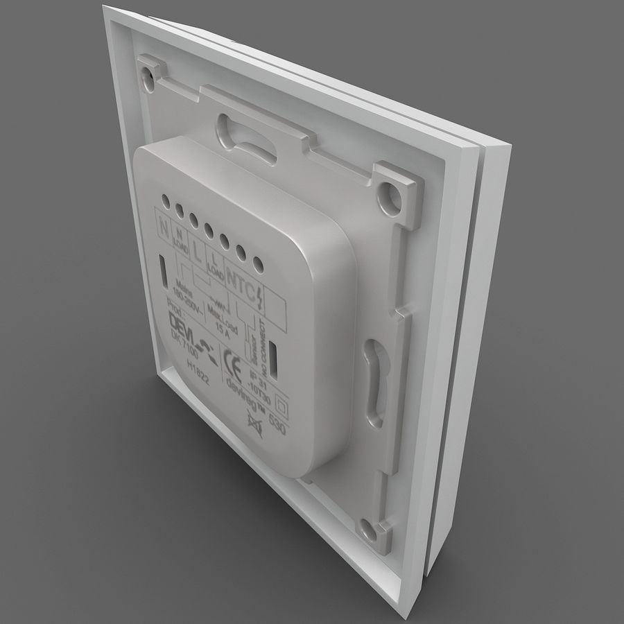 Thermostat Devireg royalty-free 3d model - Preview no. 5