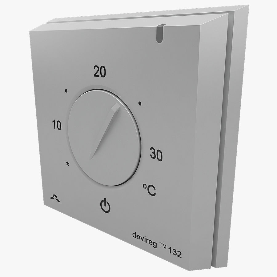 Thermostat Devireg royalty-free 3d model - Preview no. 1