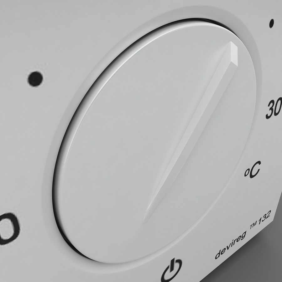 Thermostat Devireg royalty-free 3d model - Preview no. 7