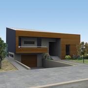 현대 하우스 3d model