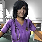 의료진 여성 24 3d model
