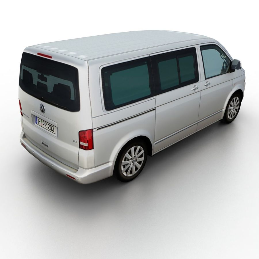 Volkswagen T5 Multivan 2011 royalty-free 3d model - Preview no. 2