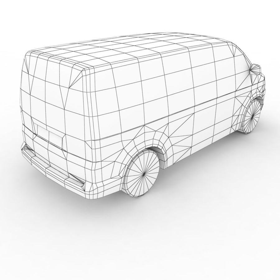 Volkswagen T5 Multivan 2011 royalty-free 3d model - Preview no. 7