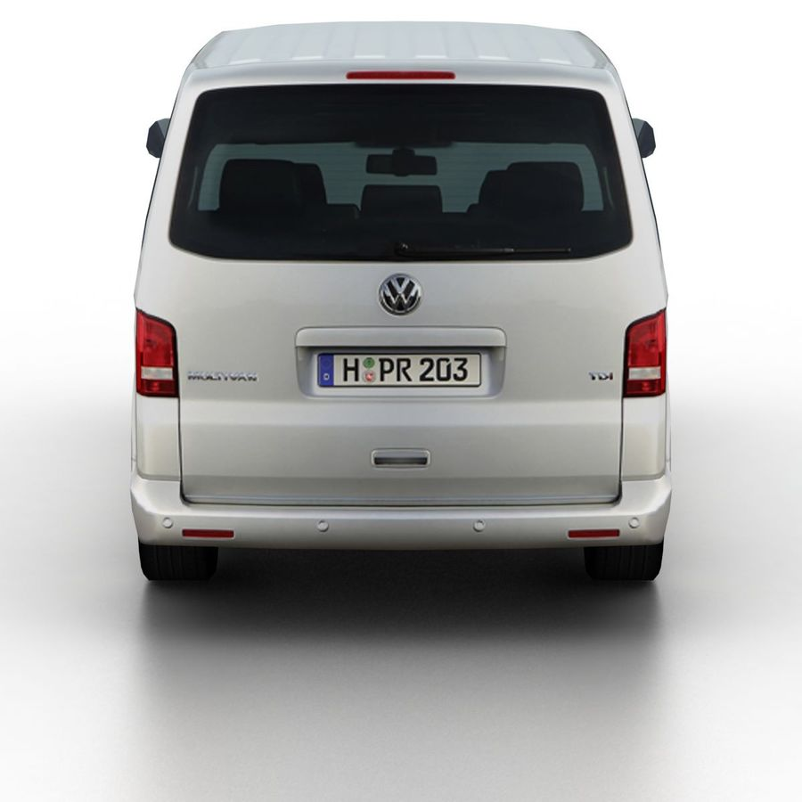 Volkswagen T5 Multivan 2011 royalty-free 3d model - Preview no. 5