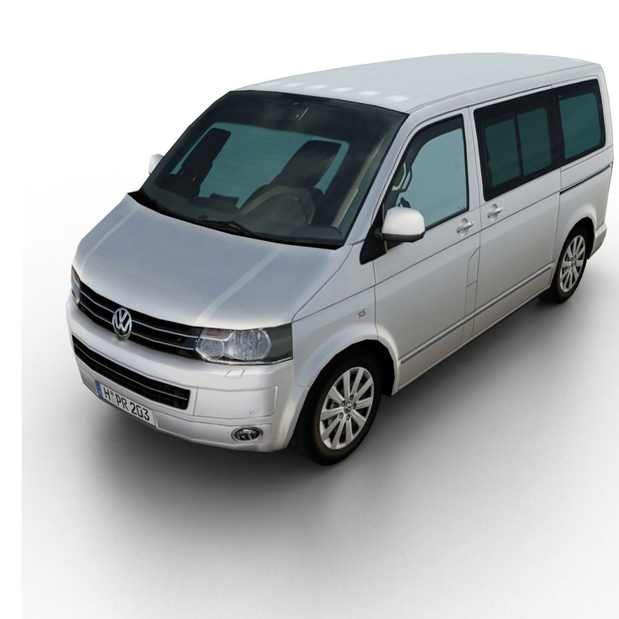 Volkswagen T5 Multivan 2011 royalty-free 3d model - Preview no. 1