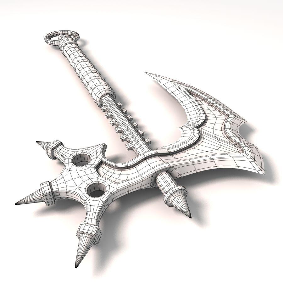 Fantasy Axe royalty-free 3d model - Preview no. 10
