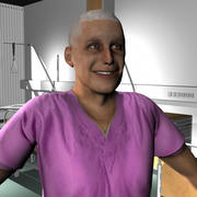 Medical Staff Male 33 3d model