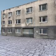Edifício Lowpoly 750 3d model