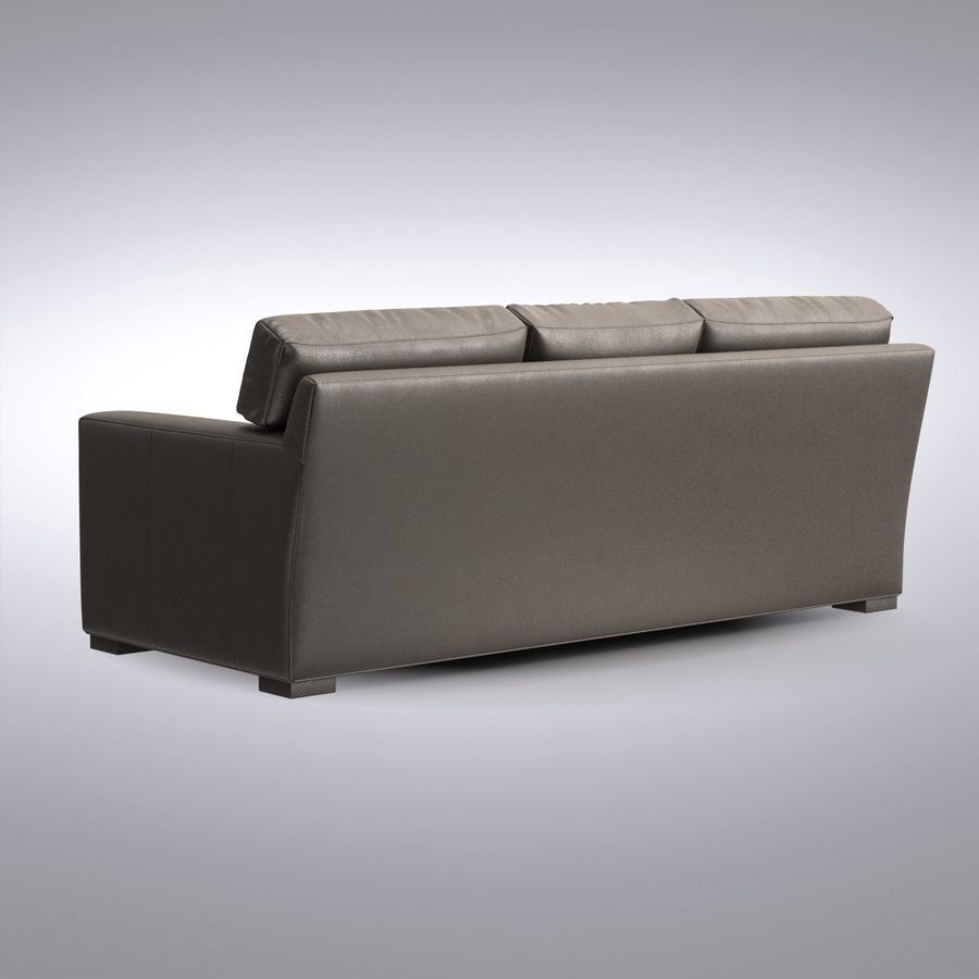 Crate And Barrel Axis Leather 3 Seat Queen Sleeper Sofa 3d Model