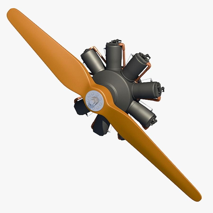 Fokker DR1 - Silnik royalty-free 3d model - Preview no. 1