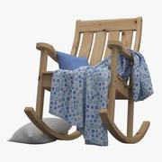Krzesło bujane ogrodowe 3d model