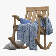 Garden Rocking Chair 3d model
