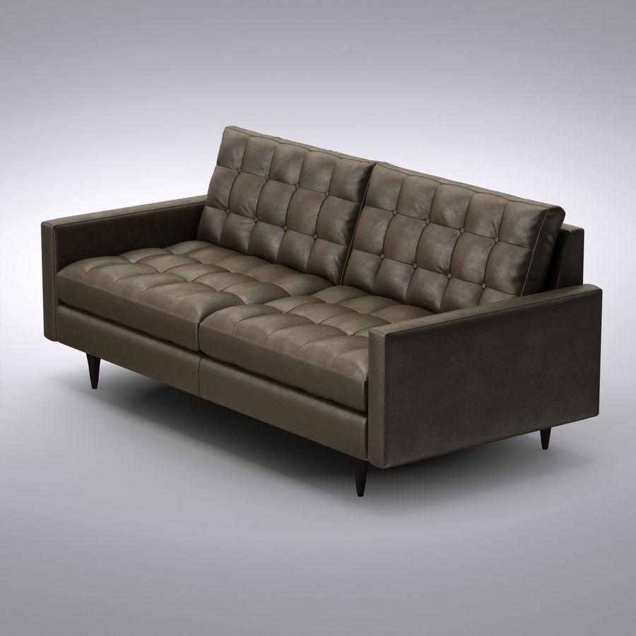 Pleasant Crate And Barrel Petrie Apartment Sofa 3D Model 39 Max Pabps2019 Chair Design Images Pabps2019Com
