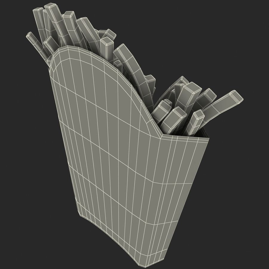 McDonalds French Fries royalty-free 3d model - Preview no. 13