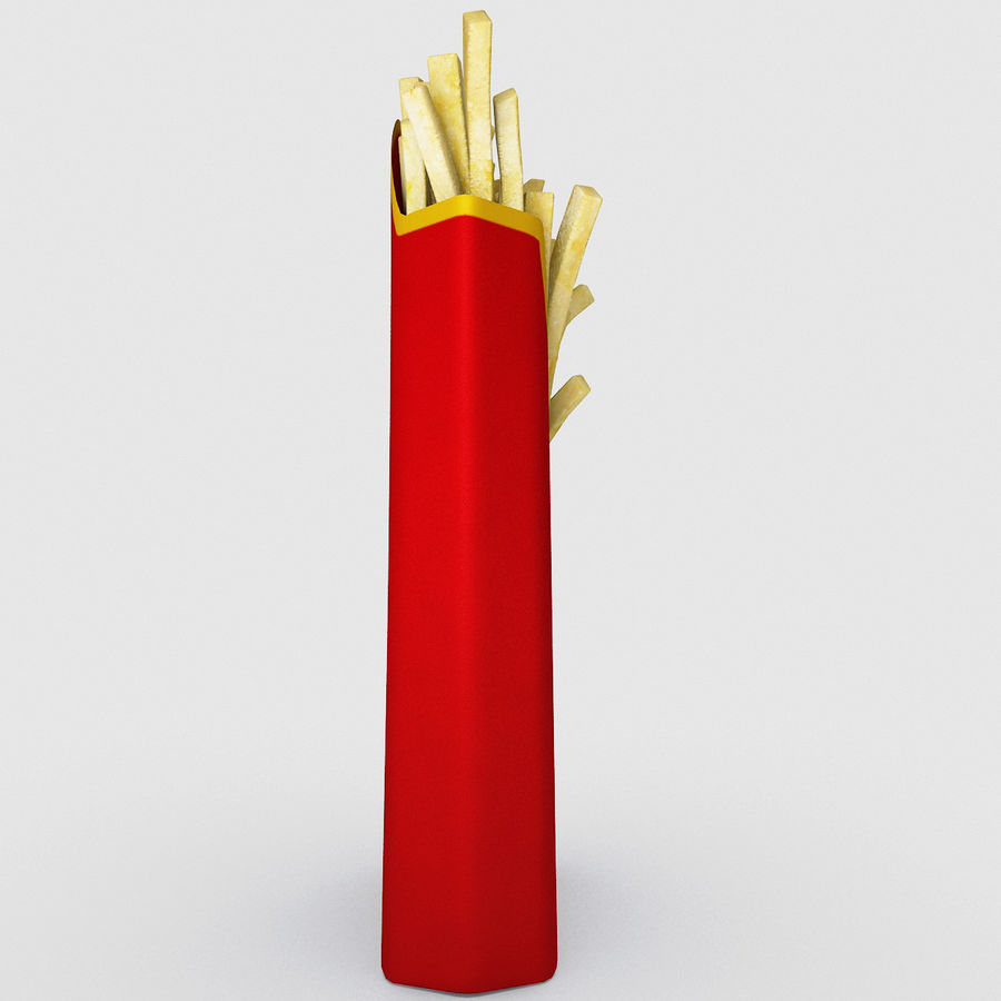 McDonalds French Fries royalty-free 3d model - Preview no. 4