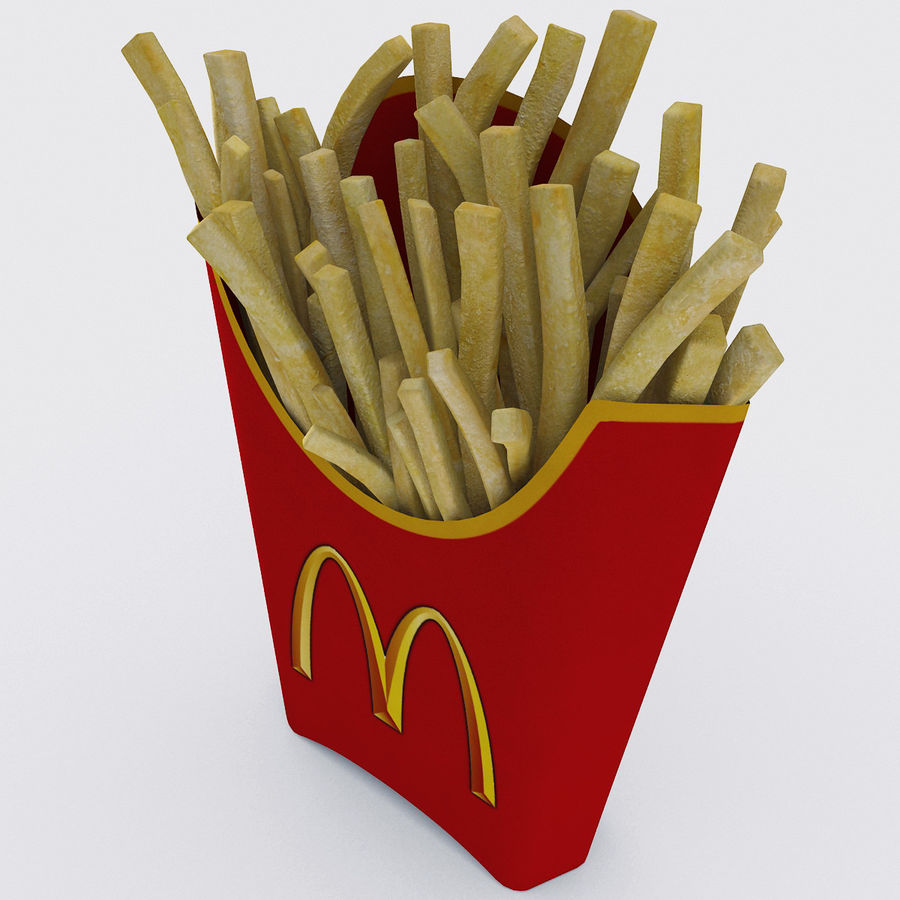 McDonalds French Fries royalty-free 3d model - Preview no. 6