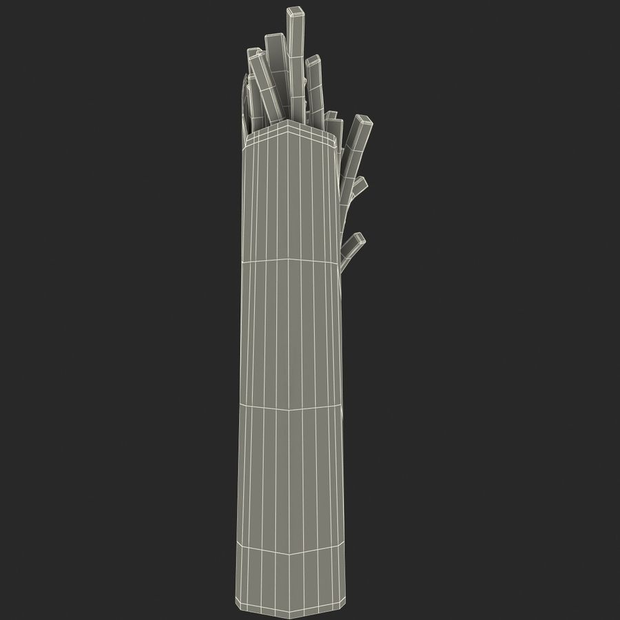 McDonalds French Fries royalty-free 3d model - Preview no. 12