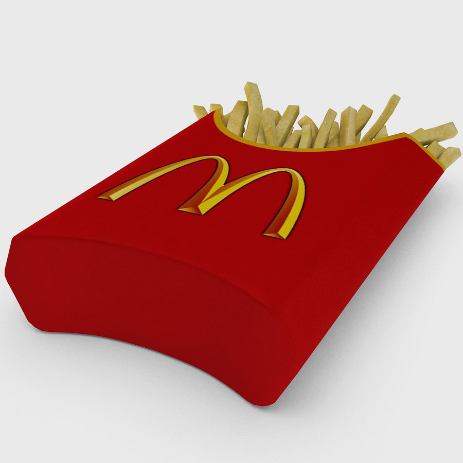 McDonalds French Fries royalty-free 3d model - Preview no. 7