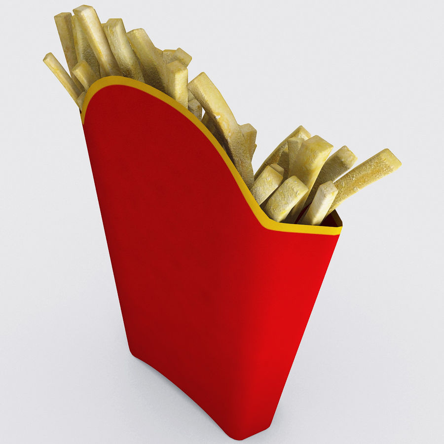 McDonalds French Fries royalty-free 3d model - Preview no. 5