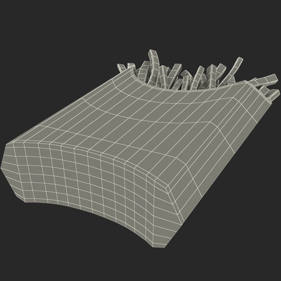 McDonalds French Fries royalty-free 3d model - Preview no. 15