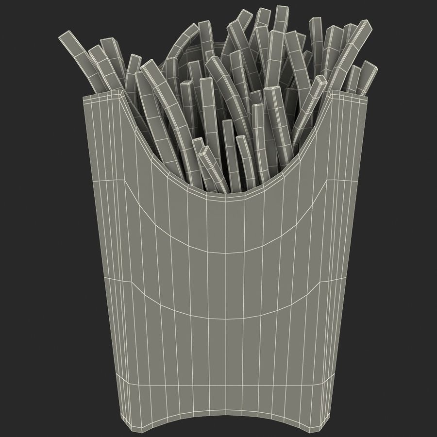 McDonalds French Fries royalty-free 3d model - Preview no. 11