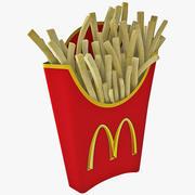 McDonalds pommes frites 3d model