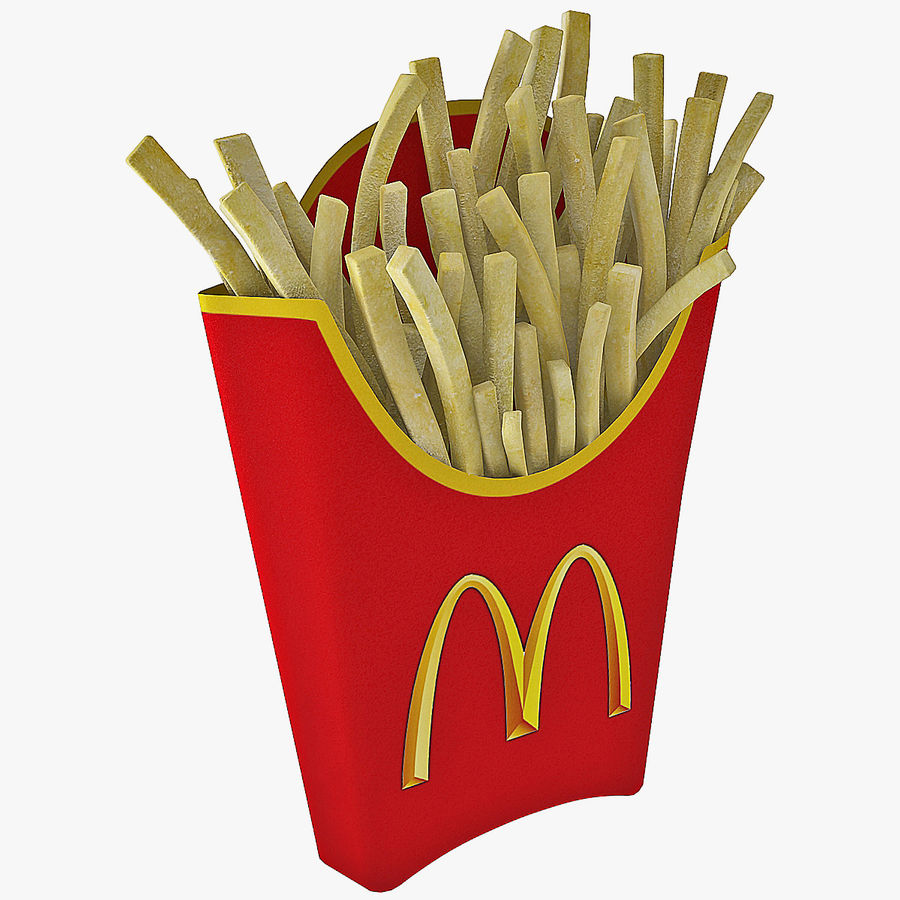McDonalds French Fries royalty-free 3d model - Preview no. 1