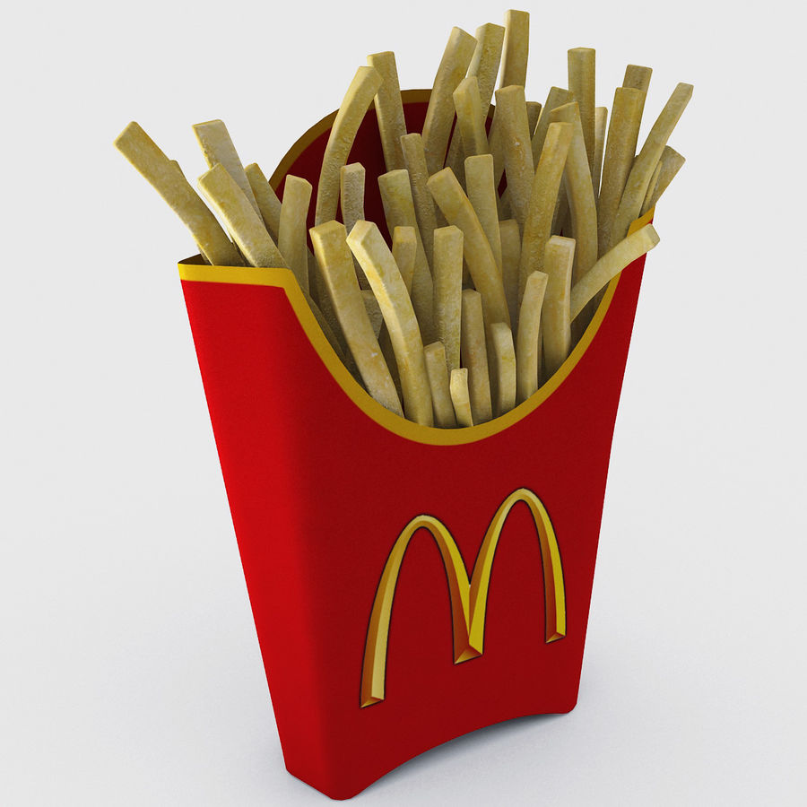 McDonalds French Fries royalty-free 3d model - Preview no. 2