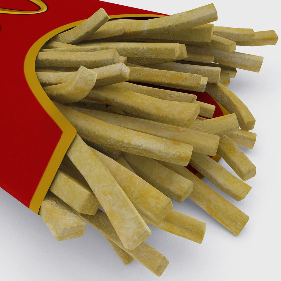 McDonalds French Fries royalty-free 3d model - Preview no. 8