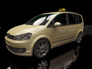 Touran Taxi 2012 3d model