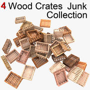 Wooden Fruit Crates Junk Collection 3d model