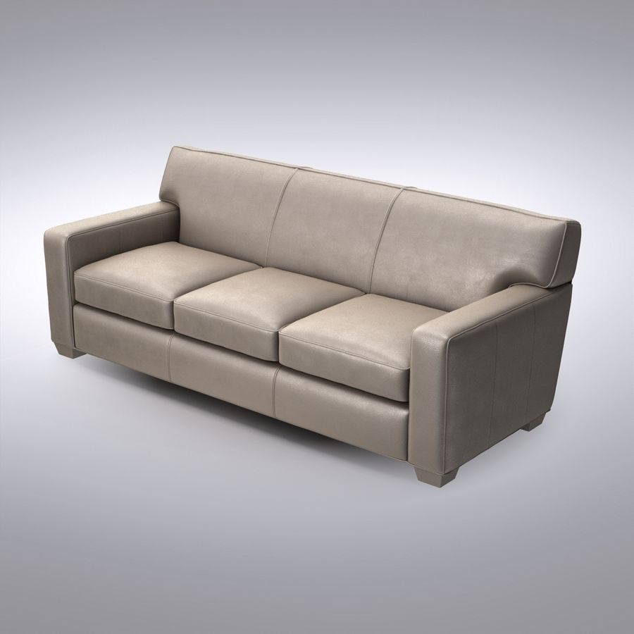 Crate And Barrel Cameron Leather Sofa 3d Model 39